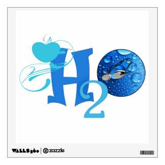 Love H2O Swim Wall Decal