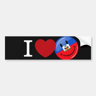 Love Haiti Smiling Flag Bumper Sticker