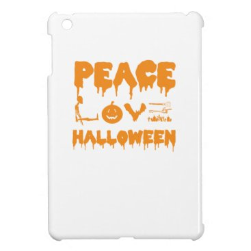 Halloween Themed Love Halloween costume tshirt with skeleton, bats Cover For The iPad Mini