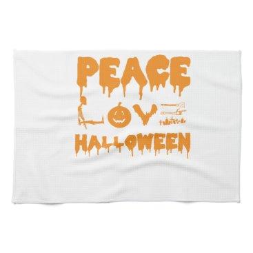 Halloween Themed Love Halloween costume tshirt with skeleton, bats Hand Towel