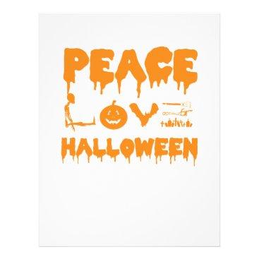 Halloween Themed Love Halloween costume tshirt with skeleton, bats Letterhead
