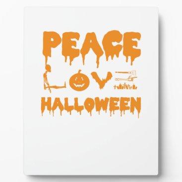 Halloween Themed Love Halloween costume tshirt with skeleton, bats Plaque
