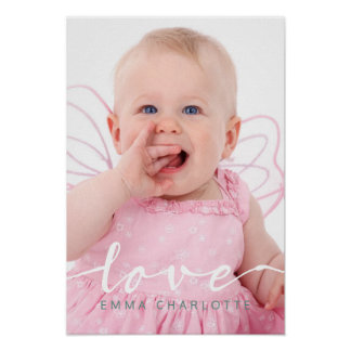 Love Hand Lettered Typography Photo Template Poster