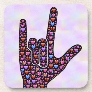 Love Hand Sign coaster
