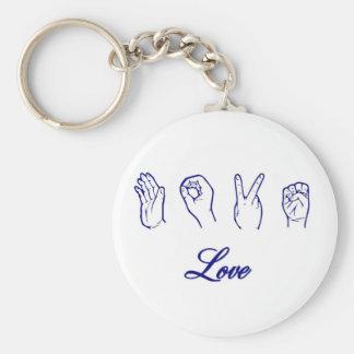 Love hand sign keychains