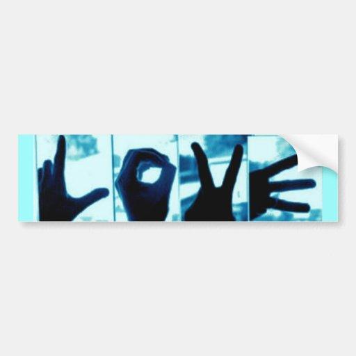 LOVE Hands bumper sticker