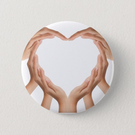 Love Hands Pinback Button
