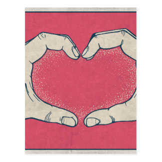 LOVE HANDS POSTCARD