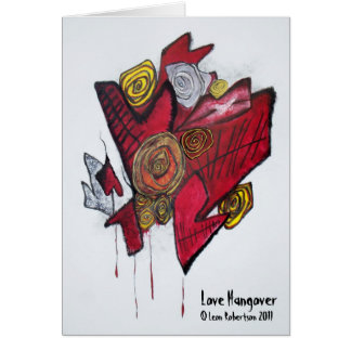Love Hangover Card with Artist Statement