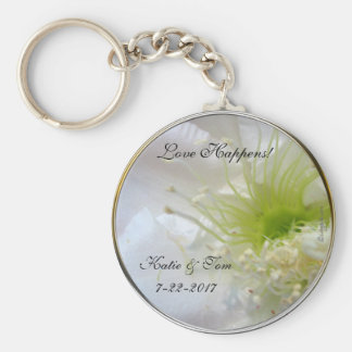 Love Happens Festive Wedding Favor Keychain