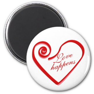 Love Happens Magnet