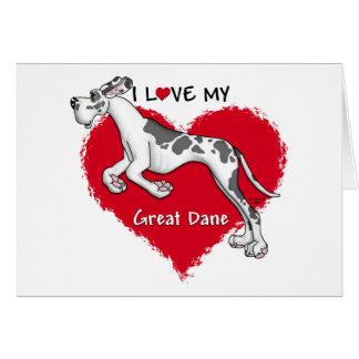 Love Harlequin Great Dane UC Card