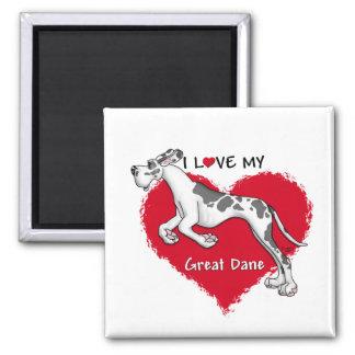 Love Harlequin Great Dane UC Magnet