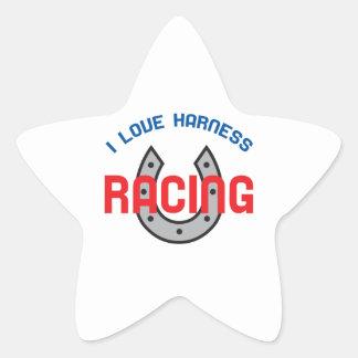 LOVE HARNESS RACING STAR STICKER