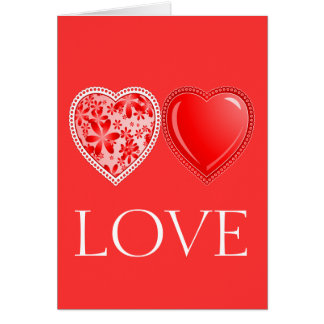 Love Harts Stationery Note Card