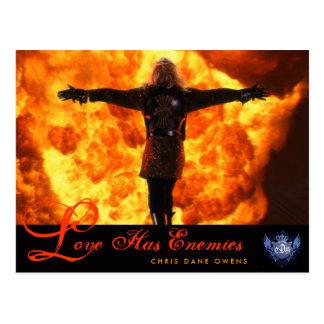 LOVE HAS ENEMIES -Postcard