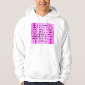 Love has mens hoodie