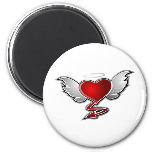 LOVE HATE 2 INCH ROUND MAGNET