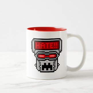 Love-Hate Bot: Hate Two-Tone Coffee Mug