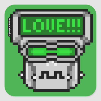 Love-Hate Bot: Love Square Stickers