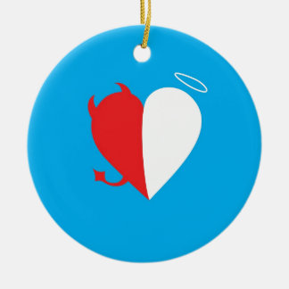 Love / Hate Ceramic Ornament