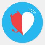 Love / Hate Classic Round Sticker