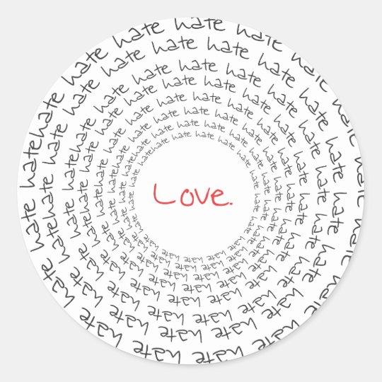 Love/Hate Classic Round Sticker