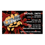 Love/Hate Fist Card Business Card Template