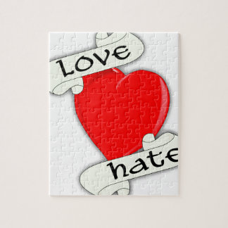 Love Hate Heart Jigsaw Puzzle
