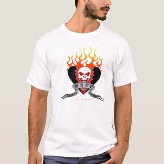 Love Hate Love Skull and Broken Heart Tattoo T-Shirt