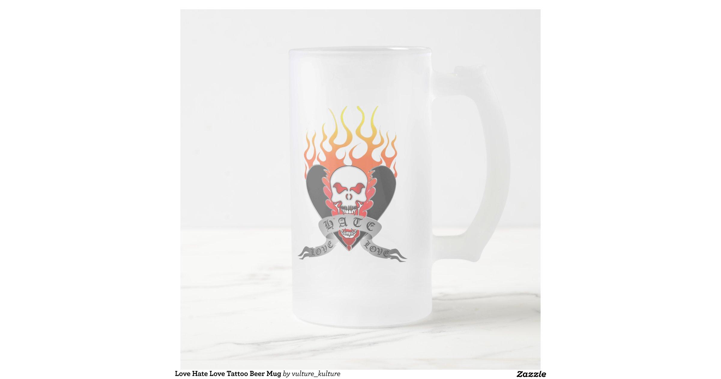 love hate love tattoo beer mug r9794a4a8c62d4242b0da19610dcdc19a x7js5 8byvr. Black Bedroom Furniture Sets. Home Design Ideas
