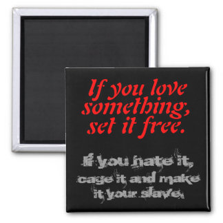 Love & Hate 2 Inch Square Magnet