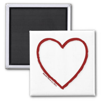 Love & Hate Magnet Template