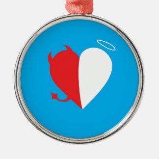 Love / Hate Metal Ornament