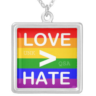 """Love > Hate"" Necklace"
