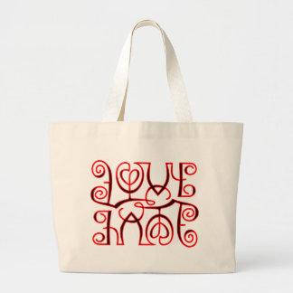 Love Hate Optical Illusion Bags