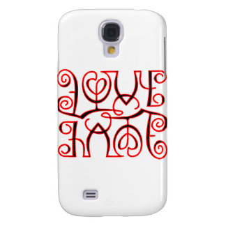 Love Hate Optical Illusion Samsung Galaxy S4 Covers