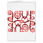 Love Hate Optical Illusion Greeting Cards