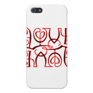 Love Hate Optical Illusion Covers For iPhone 5