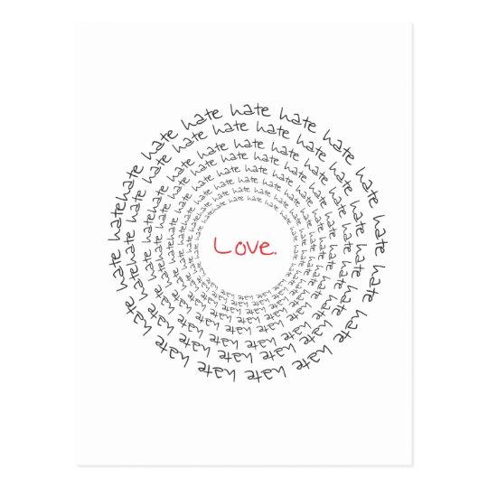 Love/Hate Postcard
