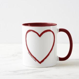Love & Hate Ringer Mug Template