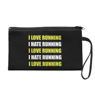 Love Hate Running Wristlet Purse