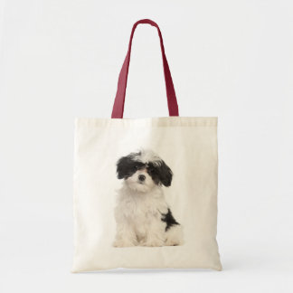 Love Havanese Puppy Dog Canvas Totebag Tote Bag