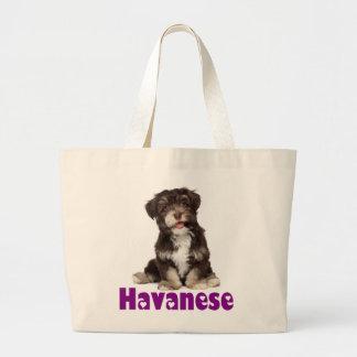 Love Havanese Puppy Dog Tote Bag Jumbo Tote Bag