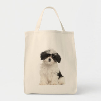 Love Havanese Puppy Dog Tote Bag Grocery Tote Bag