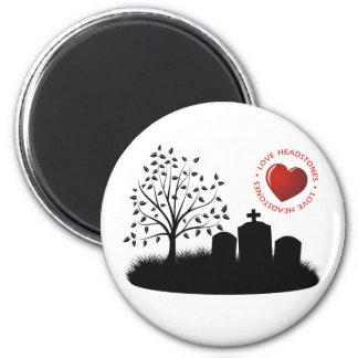 Love Headstones 2 Inch Round Magnet