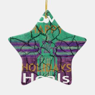 Love Heals Ceramic Ornament