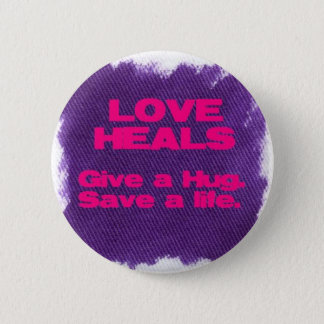 love heals pinback button