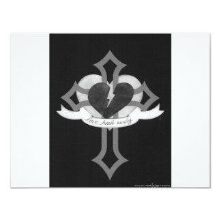 Love Heals Surely - Black & White Card