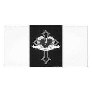 Love Heals Surely - Black White Photo Cards